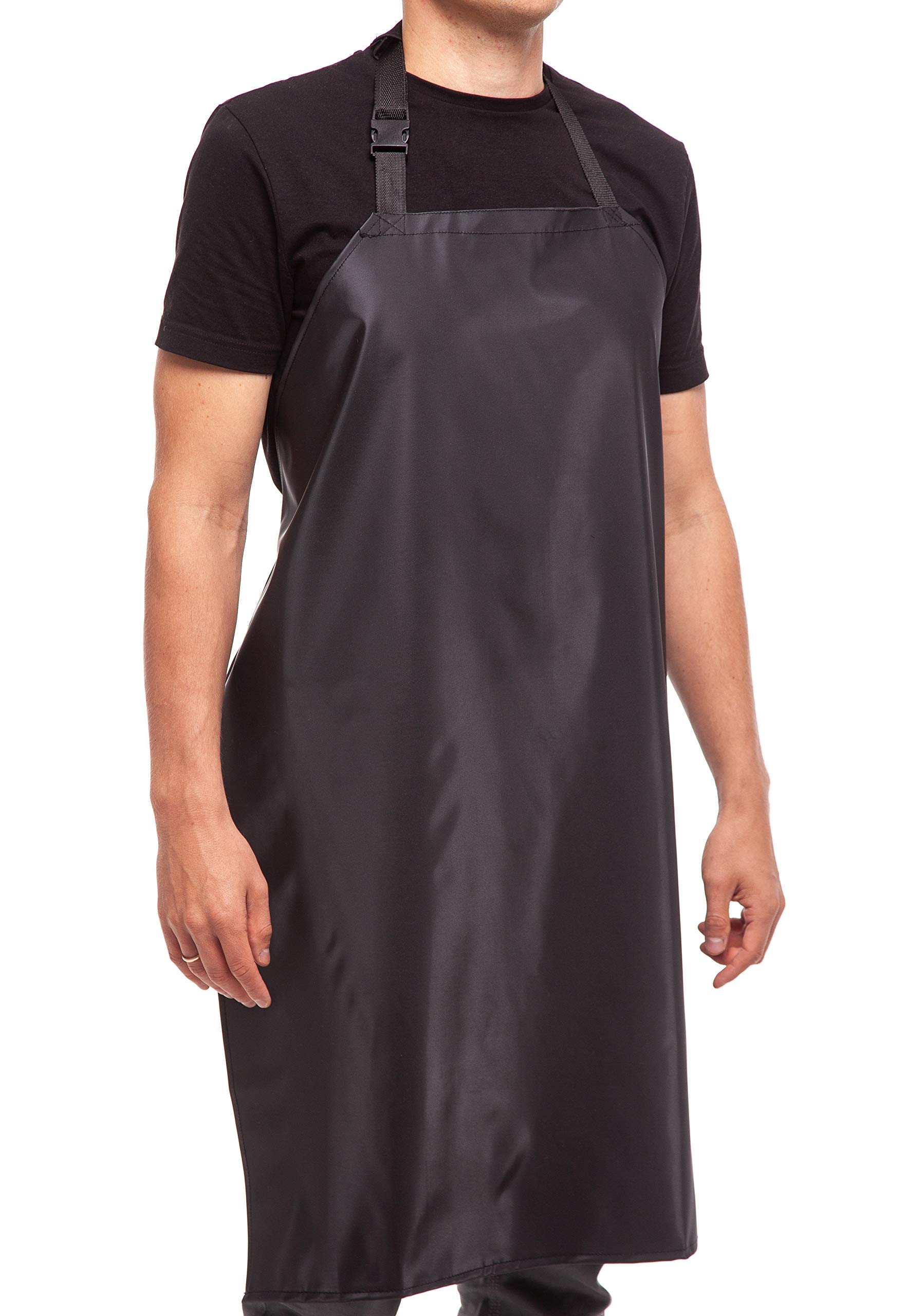 Waterproof Rubber Vinyl Apron - 35'' Upgraded 2018 Light Model - Best for Staying Dry When Dishwashing, Lab Work, Butcher, Dog Grooming, Cleaning Fish, Projects - Industrial Chemical Resistant Plastic by Aulett Home