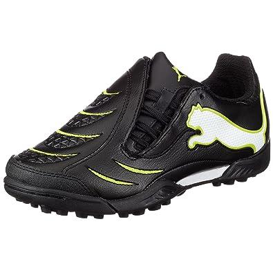 4edf6c2241cc5 Amazon.com   PUMA PWR-C 3.10 TT KIDS Turf Soccer Shoes (Black/White ...