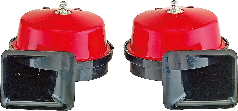 SUMEX 2505015 - Juego Bocinas Doble Sonido, Color Rojo, 8 AMP ...