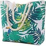NovForth Beach Bag for Women, Extra Large Waterproof Canvas Tote Bag for Ladies, 23'' Large Beach Shoulder Handbag for…