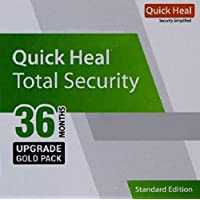 Quick Heal Total Security Renewal Upgrade Gold Pack - 1 User, 3 Years (Email Delivery in 2 hours- No CD)- Existing Quick Heal subscription required