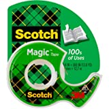 Scotch Magic Tape, 3 Rolls, Numerous Applications, Invisible, Engineered for Repairing, 3/4 x 300 Inches, Boxed (3105)