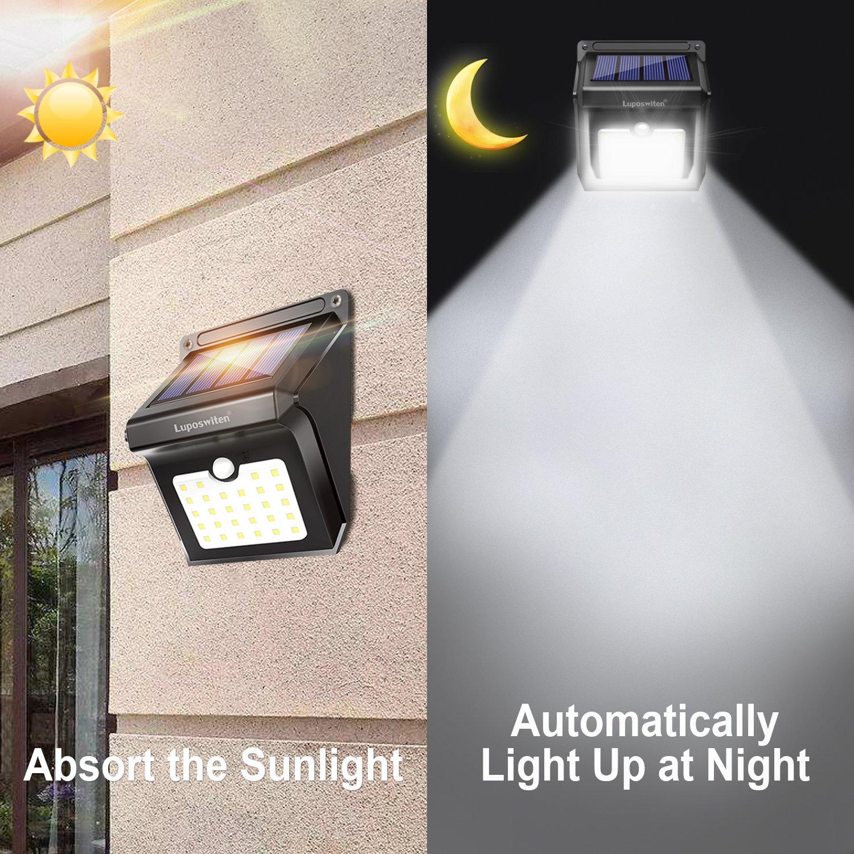 Luposwiten Solarlampen für Außen, 28 LED Solarlampen für außen mit ...