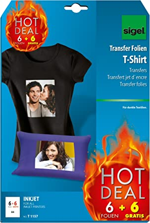 f/ür Tintenstrahldrucker A4 B/ügelpapier f/ür T-Shirts 10 St/ück