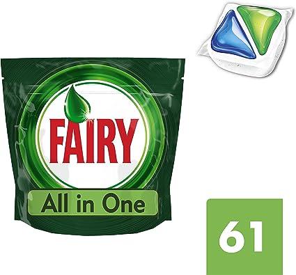 Cápsulas para lavavajillas All-In-One de Fairy, 61 unidades ...