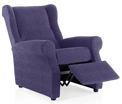 JM Textil Funda sillón Relax Moraig Tamaño 1 Plaza (Estándar), Color Azul