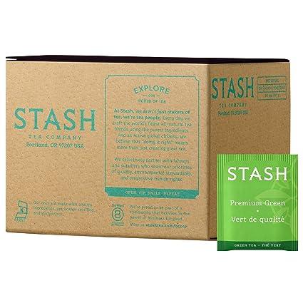 Stash Tea Premium té verde, 10 bolsas de té en papel de ...