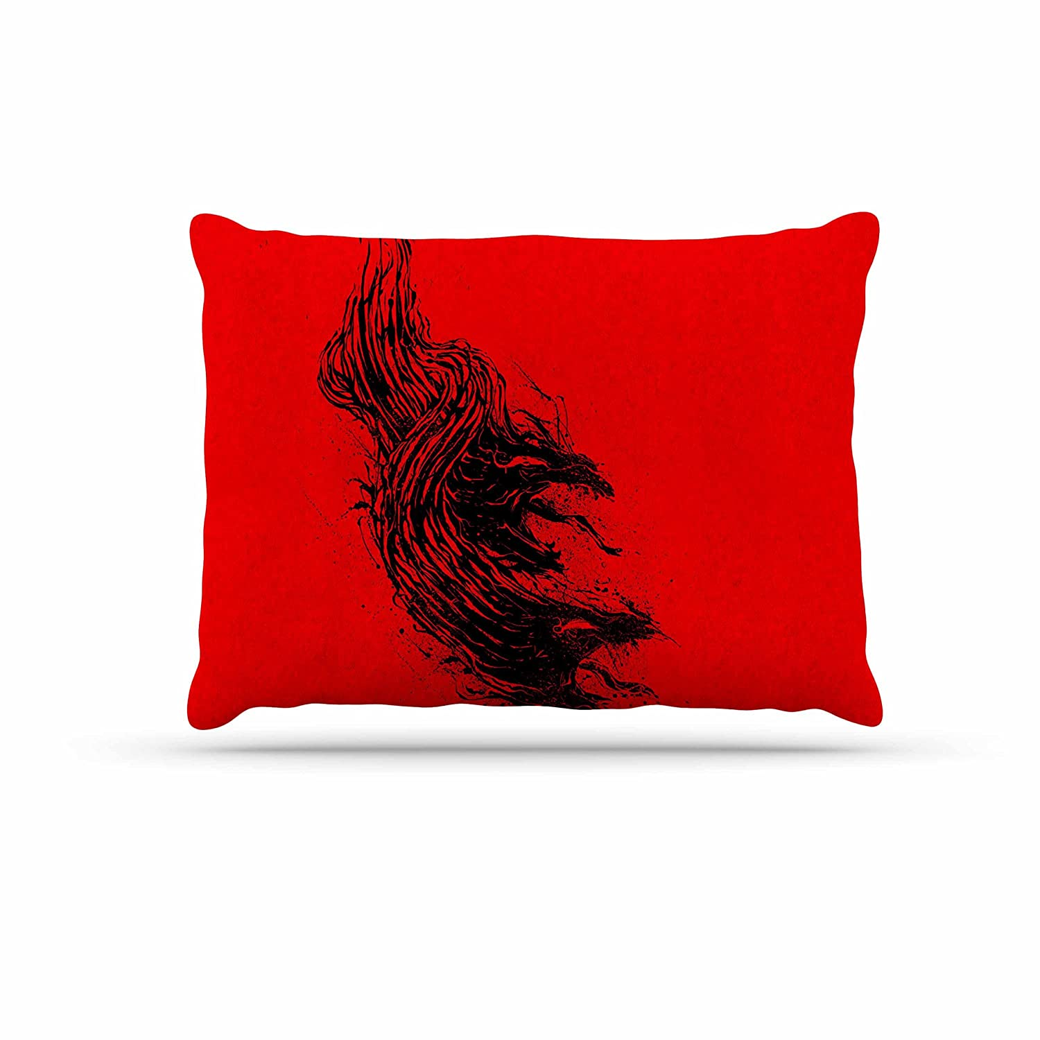 KESS InHouse Barmalisirtb Came from Hell Red Digital Dog Bed, 30  x 40