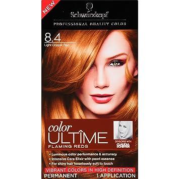 Amazon.com : Schwarzkopf Ultime Hair Color Cream, Light Copper Red ...