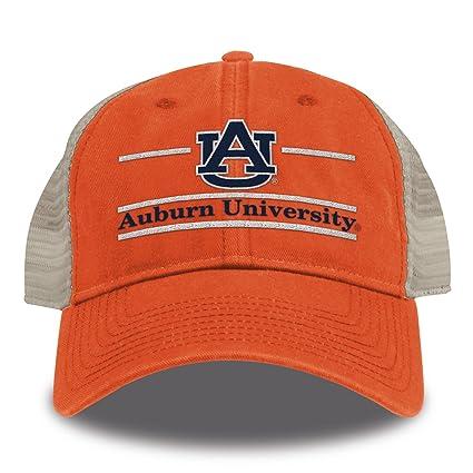 watch c154c 9cb93 The Game NCAA Auburn Tigers Split Bar Design Trucker Mesh Hat, Orange,  Adjustable