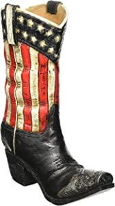 Patriotic Western Cowboy Boot Vase Decorative Home Decor Great for Events