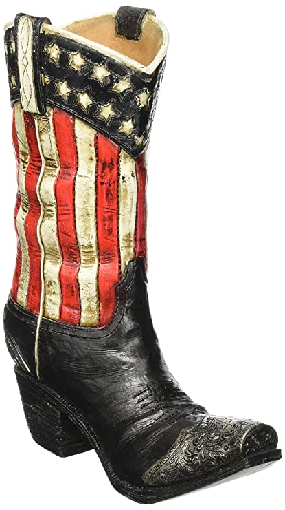 41d4f506f41 Patriotic Western Cowboy Boot Vase Decorative Home Decor Great for Events