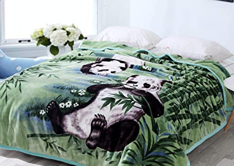 Hiyoko Panda Animal Mink Blanket Throw Bedspread Comforter Coverlet 95x79