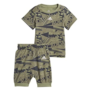 Adidas Infants Boys Kids Training Printed Summer Set Running