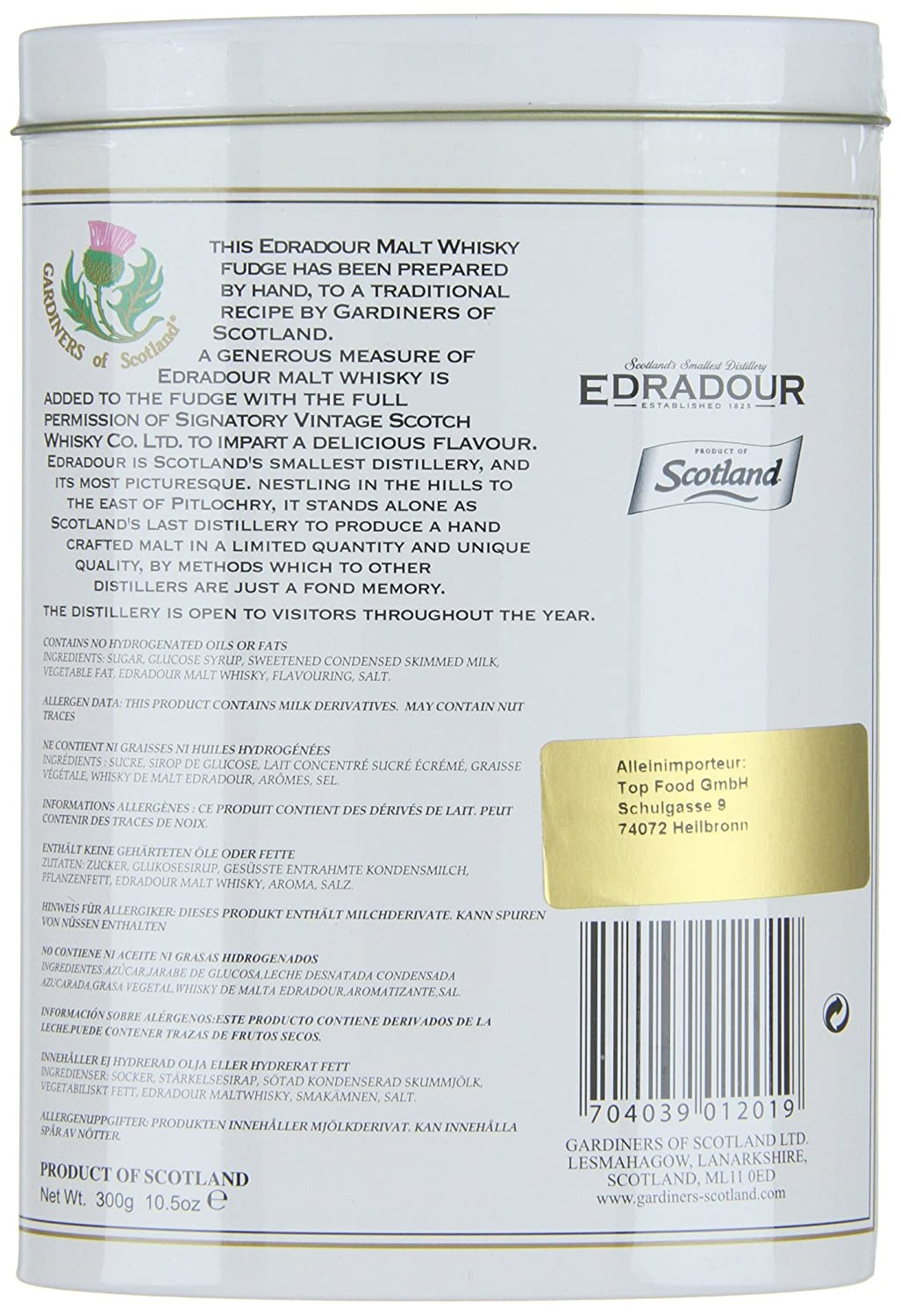 Gardiner s Of Scotland edradour Malt Whisky Fudge (1 x 300 g ...
