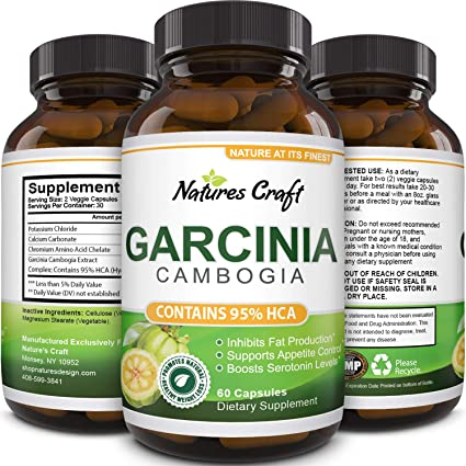Amazon Com Garcinia Cambogia With 95 Hca Weight Loss Supplement