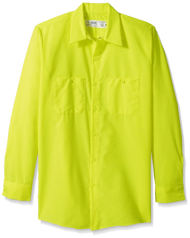 Red Kap SHIRT メンズ B072ZVFS55 X-Large Fluorescent Yellow/Green Fluorescent Yellow/Green X-Large