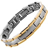Ultimate54 Magnetic Therapy Pain Relief Bracelet 3500 Gauss Strong in Black Velvet Gift Box & Free Link Removal Tool