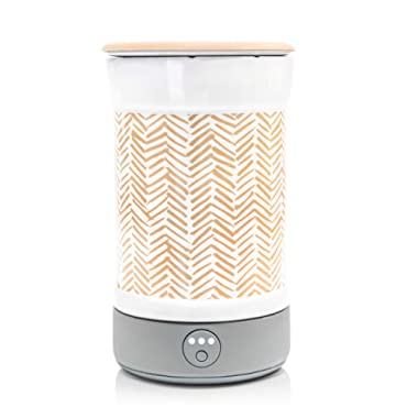 Happy Wax Signature Wax Melt Warmer for Scented Wax Melts, Cubes, Tarts – Electric Wax Melter with Automatic Timer, Patent Pending Silicone Top (Herringbone)