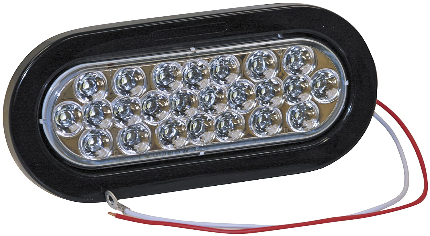 Oval Clear Buyers Products 5626324 Backup Light Kit w// 24 LEDs 6 In