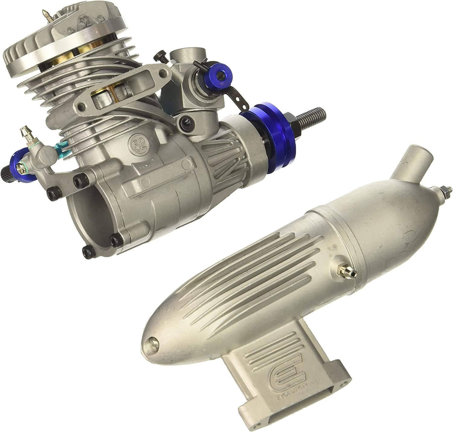 Evolution Engines 52NX Glow Engine with Muffler Complete Engines ...