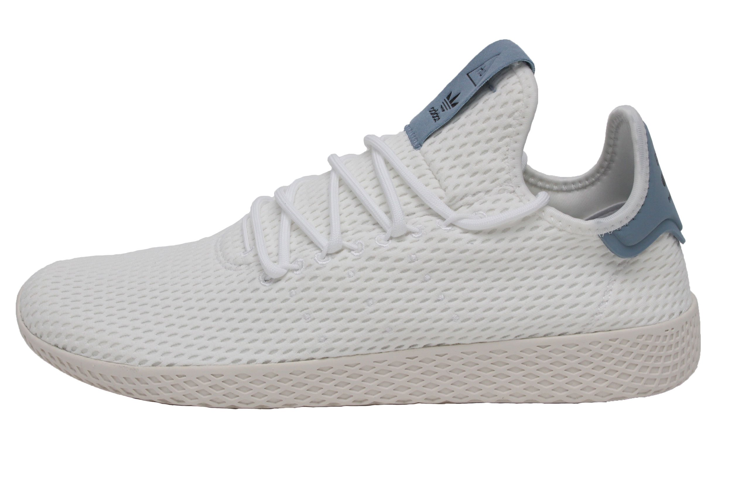 1a0a5edb2c23f Galleon - Adidas Originals Men s Pharrell Williams Human Race  White White Blue 4.5 D US D (M)