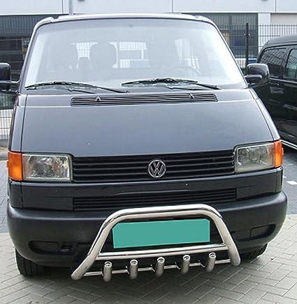 Frontal plancha Protección Frontal de planchar Bull Bar para Volkswagen T4 90 de 03 de acero inoxidable pulido nuevo.: Amazon.es: Coche y moto