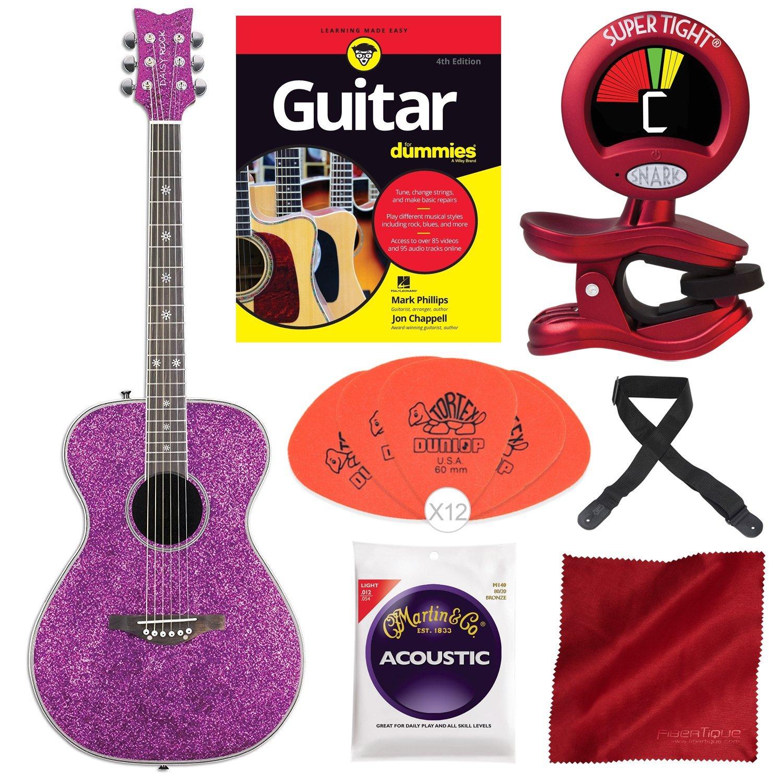 Daisy Rock Pixie - Guitarra acústica, color rosa brillante ...