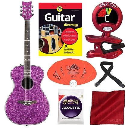 Amazon.com: Daisy Rock Pixie – Guitarra acústica, color rosa ...