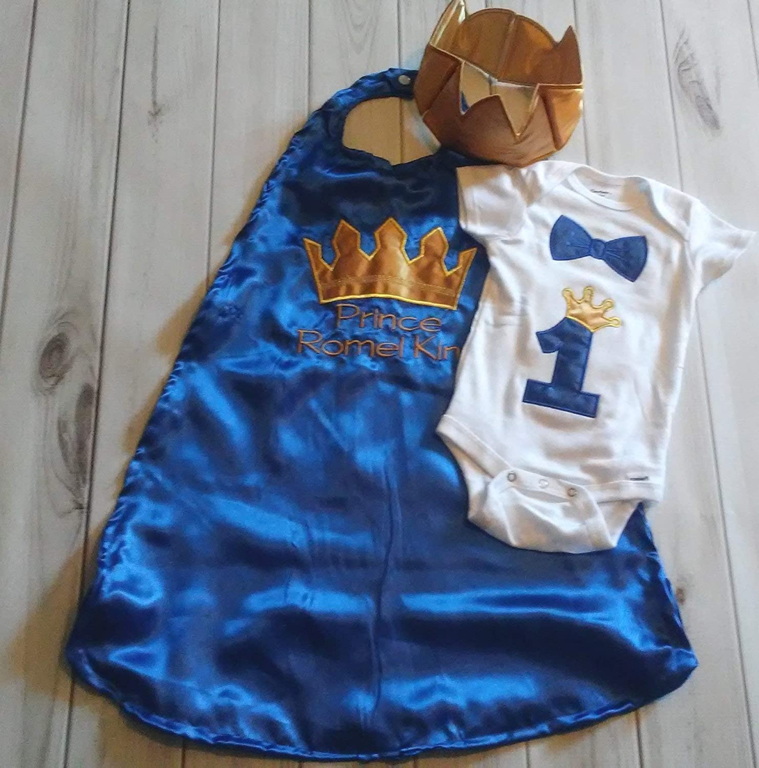 Baby Boy 1st Birthday Cake Smash Prop Blue Colour Outfit Handmade