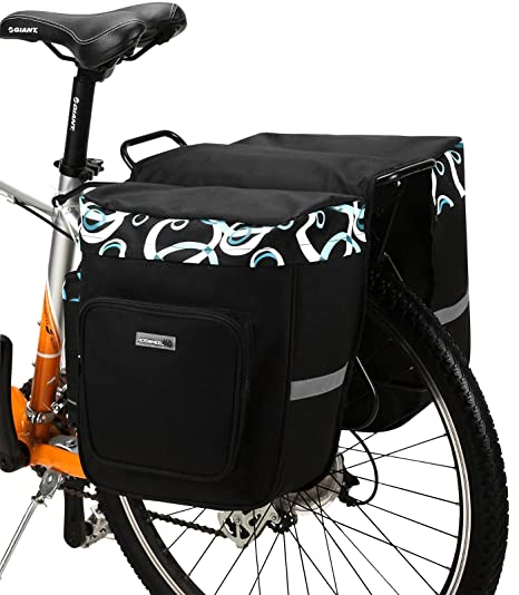 DCCN Alforja para sillín de Bicicleta, Bolsa para Bicicleta, Super diseño 2 en 1 para Parte Trasera 30L es Rack Impermeable Asiento Trasero Bolsa de ...