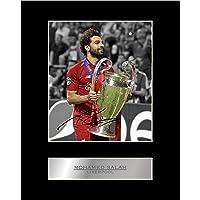Mohamed Mo Salah signerad monterad fotovisning Liverpool FC Champions League #1 signerad gåva bild tryck