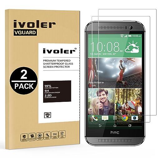 22 opinioni per [2 Pack] Pellicola Vetro Temperato HTC One M8, iVoler® ** [Protezione
