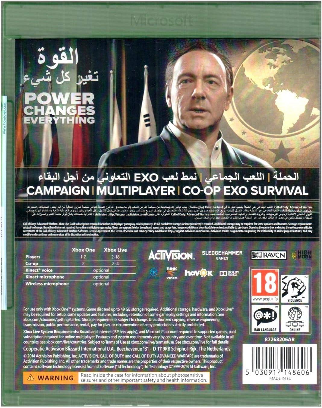 Call of Duty: Advanced Warfare (English/Arabic Box) - Xbox One [Importación inglesa]: Amazon.es: Videojuegos