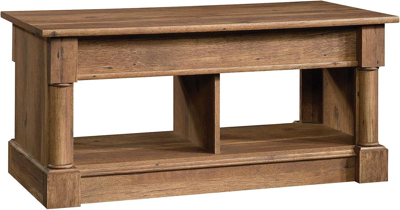 "Sauder 420716 Palladia Lift Top Coffee Table, L: 43.15"" x W: 19.50"" x H: 24.33"", Vintage Oak finish"