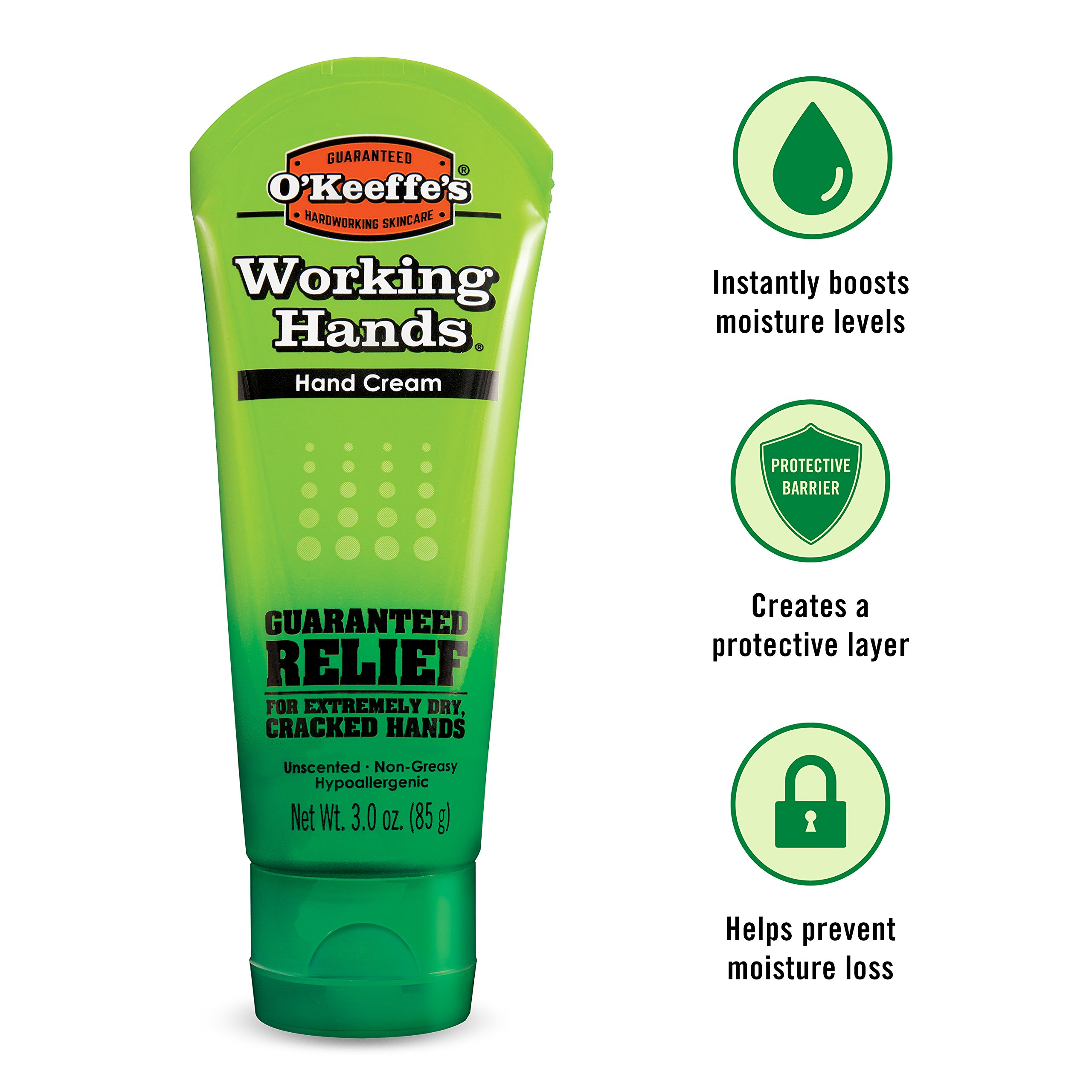 O'Keeffe's K0290007 Working Hands Hand Cream, 3 oz, Tube, (Pack of 2) by O'Keeffe's (Image #6)