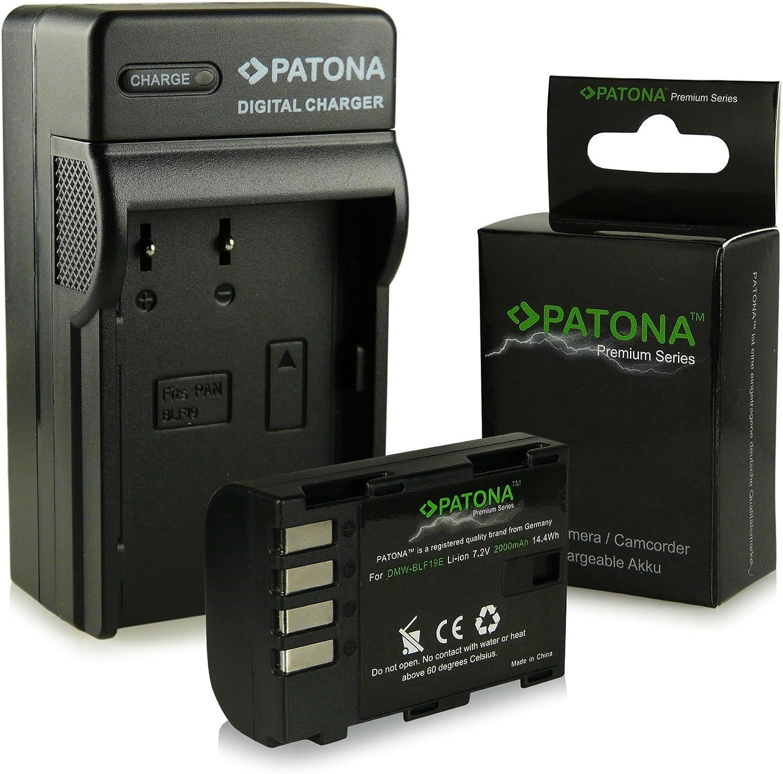 3in1 Caricabatteria DMC-GH3A DMC-GH4 Premium Batteria DMW-BLF19 DMW-BLF19E per Panasonic Lumix DMC-GH3