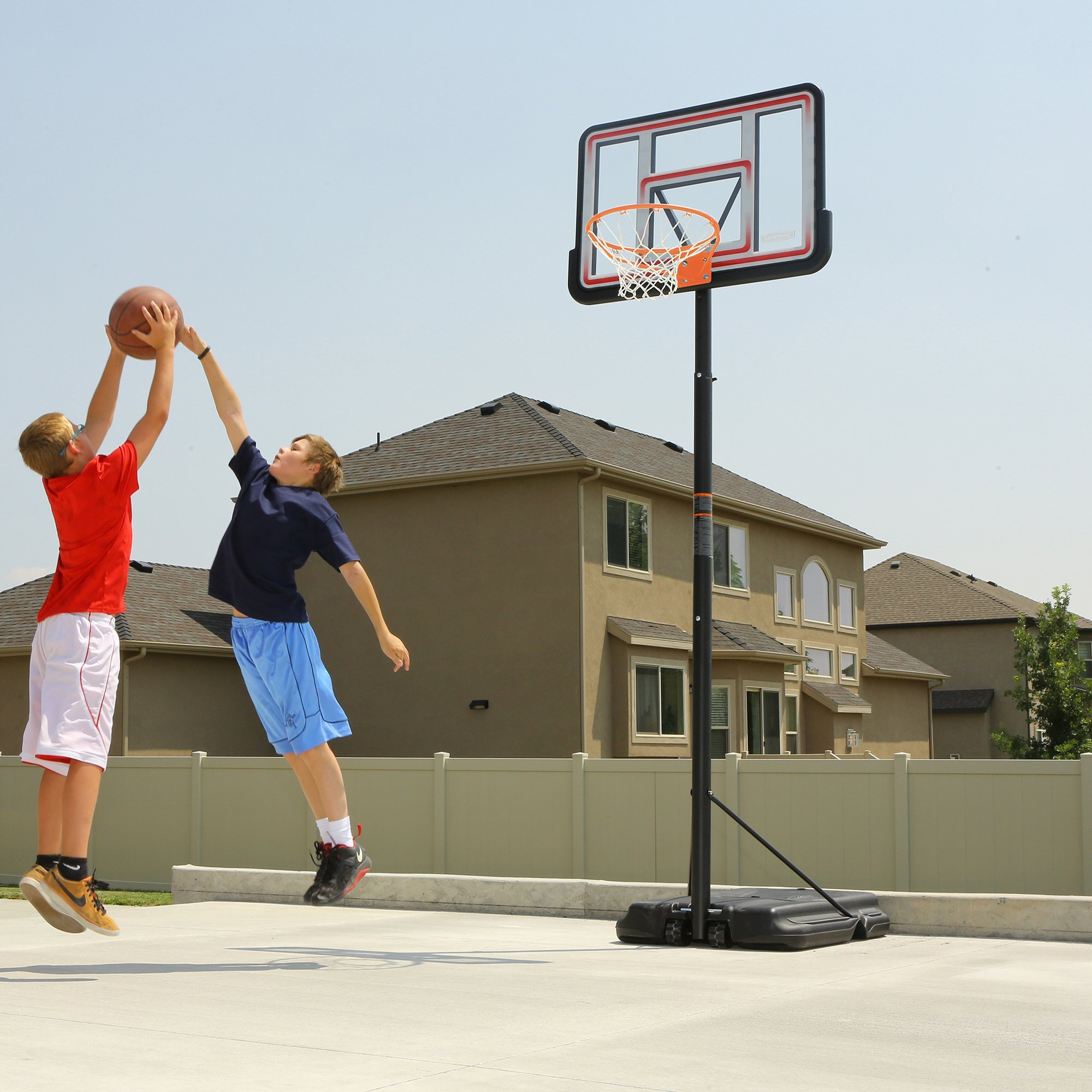 Lifetime 1269 Pro Court Height Adjustable Portable Basketball System, 44 Inch Backboard by Lifetime (Image #8)