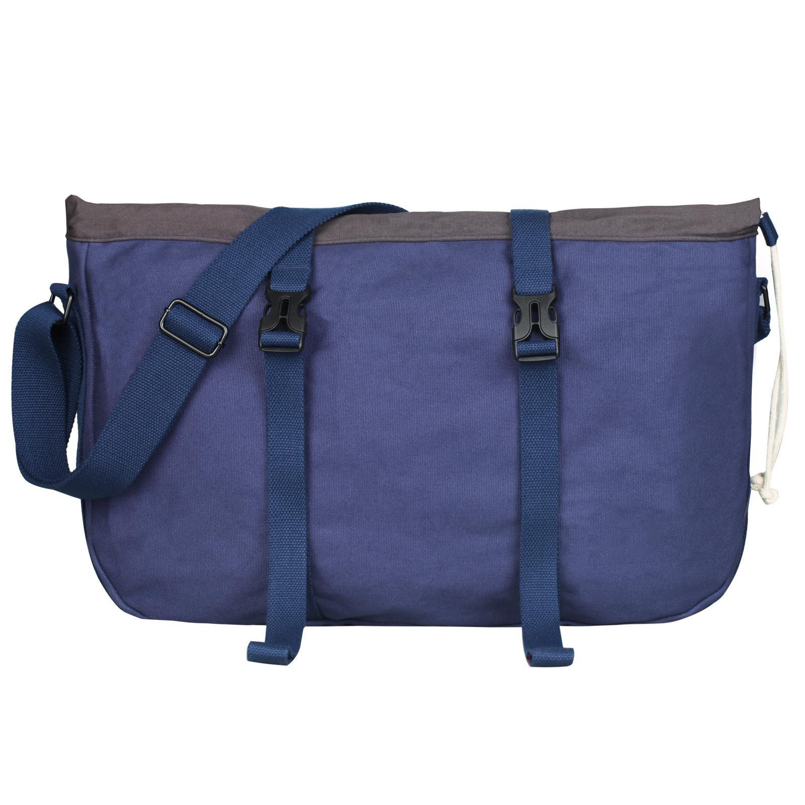 ParaPace 17 inch Laptop Canvas Messenger Bag,Casual Vintage Shoulder Bag, Cross Body Bag Travel Bag for Men Women
