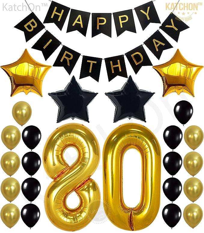 80th decoración - suministros para fiesta de cumpleaños ...