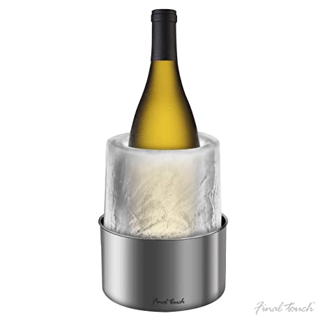 Compra Enfriador para botellas de vino de hielo con botella de champán Fine Food Store Norte de acero inoxidable en Amazon.es