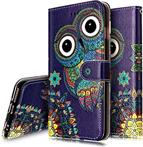 iPhone 6S Plus Case,iPhone 6/6S Plus Wallet Case, PHEZEN Aztec Owl Design Pu Leather Wallet Case with Card Slots Stand Book Style Folio Flip Cover for iPhone 6/6S Plus 5.5