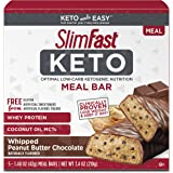 SlimFast Keto Meal Replacement Bar - Whipped Peanut Butter Chocolate - 5 Count Box - Pantry Friendly