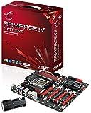 ASUS Rampage IV Extreme - Placa base (ATX, Intel X79 Express, LGA 2011, 3-Way SLI, Hybrid CrossFireX, Bluetooth), Negro y rojo