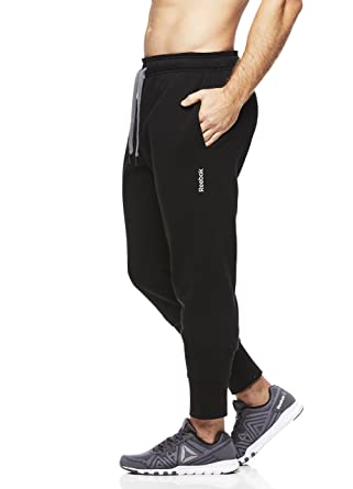 Reebok Mens Core Jogger With Cuff - Poly/Cotton Midnight Black ...