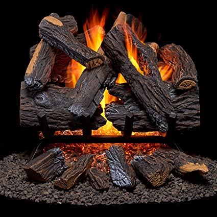 Amazoncom Duluth Forge Vented Natural Gas Fireplace Log Set 18