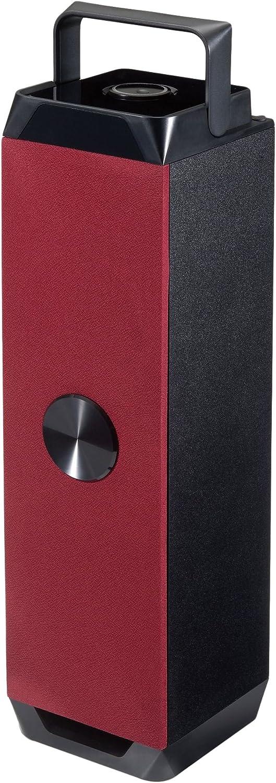 Conceptronic Altavoz Bluetooth - Altavoces portátiles (6 W, 20-20000 Hz, 4 Ω, Inalámbrico y alámbrico, Negro, Rojo, Rectángulo)