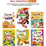 A free Board Book of Our Helpers(Worth Rs.80) on a Combo Set of Board Book of Birds,Domestic Animals,Colours,Food and Good Habits by Aadi Learning Arena
