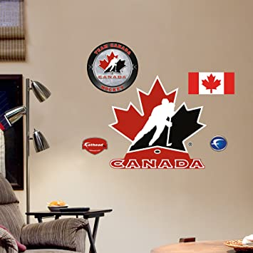 Fathead  Wall Decal Team Canada Logo Fathead Wall - Wall decals canada