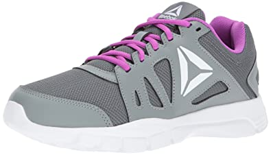 7597afaa98c Reebok Women s Trainfusion Nine 2.0 Track Shoe Alloy Flint Grey Vicious  Violet White